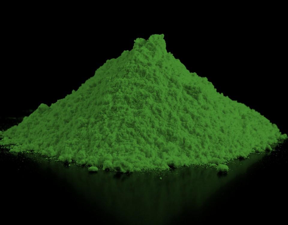 Green Powder Pigment Pigmento em pó verde