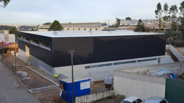 Imagem completa do armazém construído com ajuda dos fundos do Portugal 2020