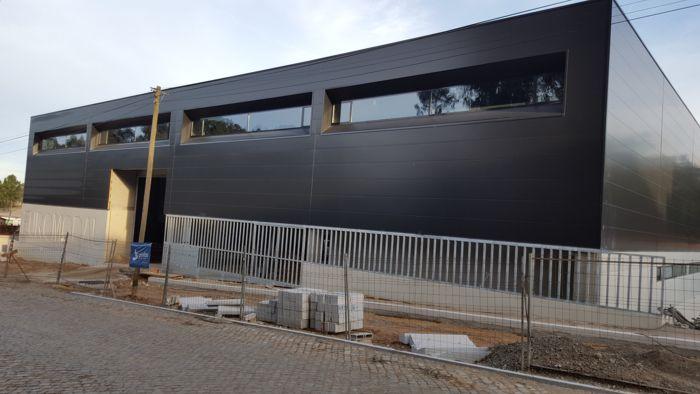 Nova face do armazém da Euromodal, conseguido com os fundos comunitários do Portugal 2020