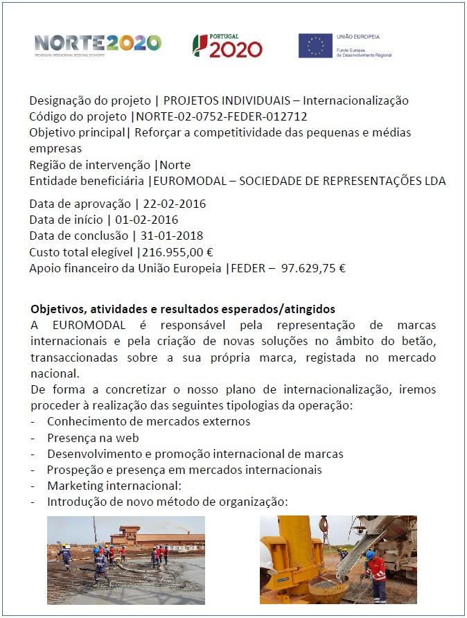Ficha de Projeto Internacionalização